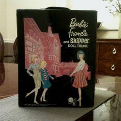 1965 Vintage Barbie Francie Skipper Carry Case - Doll Trunk | eBay