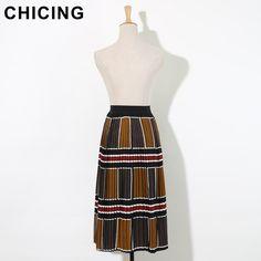 Retro Color Blocks Print High Waist Pleated Long Chiffon Skirt Only $27.99 => Save up to 60% and Free Shipping => Order Now! #Skirt outfits #Skirt steak #Skirt pattern #Skirt diy #skater Skirt #midi Skirt #tulle Skirt #maxi Skirt #pencil Skirt