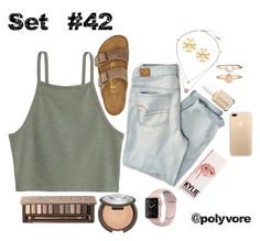 """""""Untitled #42"""" by ally-wren ❤ liked on Polyvore featuring American Eagle Outfitters, Birkenstock, Michael Kors, Tory Burch, Essie, Urban Decay and Accessorize"""