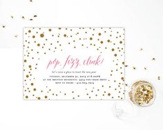 Pop Clink Fizz New Years Eve Party Invitation  by blushprintables, $15.00