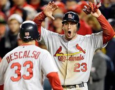 David Freese and Daniel Descalso - NEVER count the Cards out.... they'll prove you wrong just about every time. #STLCards