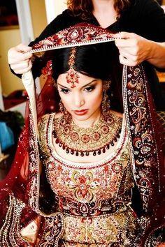 Bridal preparation. #lehanga #fashion