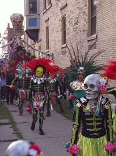 Dia de los Muertos-Walkers Point Center for the Arts Parade of the Dead, Wi /photo by Joseph Eufemi