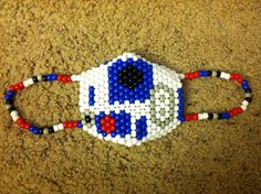 R2D2 Kandi Mask by colormeinchaos on Etsy