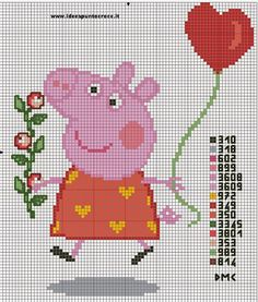 16 beautiful designs with Peppa Pig and . - 16 beautiful designs with Peppa Pig and George for cross stitch 16 lovely Peppa Pig and George Pig - Cross Stitch For Kids, Cross Stitch Baby, Cross Stitch Charts, Cross Stitch Designs, Cross Stitch Patterns, George Pig, Jumper Knitting Pattern, Knitting Charts, Knitting Patterns
