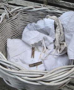 Laundry - by Ana Rosa White Cottage, Cottage Style, Laundry Basket, Laundry Room, What A Nice Day, White Day, Pure White, Winter White, Vintage Laundry