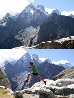 Arc'terxy athlete Seb Mayer in Les Écrins national park