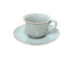 COSTA NOVA Alentejo Collection. Tea cup & saucer. Turquoise. https://pt.pinterest.com/costanovatable/alentejo-collection/