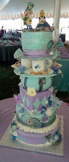 Alice in wonderland/steampunk theme wedding
