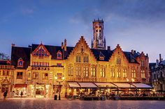 Burg Square Architecture At Night - Bruges Print by Barry O Carroll Types Of Lighting, Bruges, Weather Conditions, Belgium, Fine Art America, Architecture, Night, Buildings, Photography