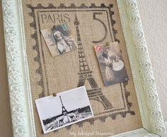 Mijn Geborgen Treasures: Parijs Postzegel Stencil Project