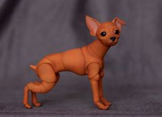Russian Toy Terrier, 7 cm | See it here: store.evethecat.com… | Flickr Russian Toy Terrier, Scooby Doo, Dinosaur Stuffed Animal, Store, Dogs, Fictional Characters, Animals, Art, Art Background
