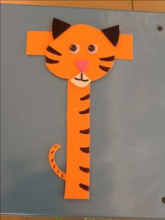 T is for Tiger. Fun letter t craft for preschool