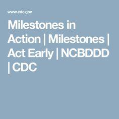 Milestones in Action | Milestones | Act Early | NCBDDD | CDC