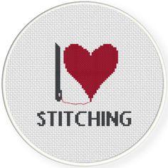 FREE for Feb 22nd 2017 Only - I Heart Stitching Cross Stitch Pattern