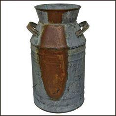 "Milk Can - 10-3/4"" Galvanized Finish - Country Rustic Primitive Jug Vase H.S. http://www.amazon.com/dp/B00CGCVNHY/ref=cm_sw_r_pi_dp_XZyOub1194HMQ"