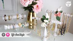 LifeAnnStyle DIY Necklace & Bracelet Holder |  http://www.lifeannstyle.com/diy-necklace-bracelet-holder/