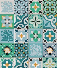 unique tiles in lovely shades of blue and green Tile Art, Mosaic Tiles, Tiling, Tile Patterns, Textures Patterns, Tile Design, Pattern Design, Decoupage, Stencils