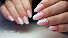 21 Elegant Baby Boomer Nail Designs You'll Love ! - Style for Women Baby Pink Nails With Glitter, Pale Pink Nails, Faded Nails, Sparkly Nails, French Fade Nails, White Gel Nails, Basic Nails, Rose Nail Art, Bride Nails