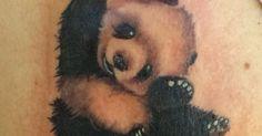 Very Cute Baby Panda Tattoo Design