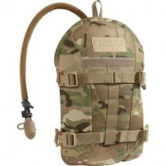 Hiking Gear - CamelBak Multi Camo ArmorBak 100 oz Antidote Short. Hiking Gear -  D.A.A.S.™ (Direct Armor Attachment System) Quick Release side-release buckles allow for a one-time set-up and rapid attachment/removal from any plate carrier with MOLLE. Quick Attach Pressure Strap increases stability and makes on-the-move hydration, rinsing glasses and goggles easier. GET YOURS TODAY AT TRAIL ENDEAVORS. www.trailendeavors.com