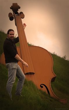 Played a bit of Double Bass on a hill in Longford today..