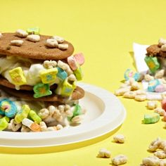 Whiskey Lucky Charms Ice Cream Sandwiches
