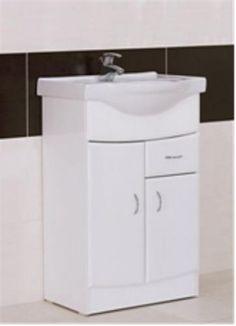 Bathroom Cabinets 55cm malaia square 60cm vanity unit white gloss wall mounted malaia