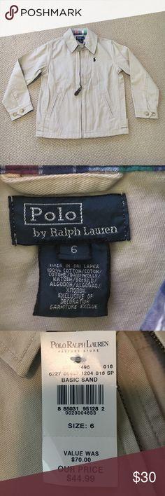 Brand new !! Boys polo Ralph Lauren khaki jacket Brand new Ralph Lauren boys khaki jacket. Size 6 😍 Polo by Ralph Lauren Jackets & Coats