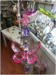 Beaded butterfly dangle
