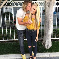 """He's the type of boy I'd make a sandwich for @thesupercole  Ps- go subscribe and watch our most recent YouTube video! I talked all about my past & our relationship! YouTube: """"Cole&Sav"""" (link in bio)"""