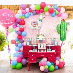 Trendy Birthday Party Themes For Girls 13th Birthday Parties, Birthday Party Decorations, 9th Birthday, Birthday Ideas, Llama Birthday, Happy Birthday Balloons, 1st Birthdays, Aaliyah Birthday, Diy