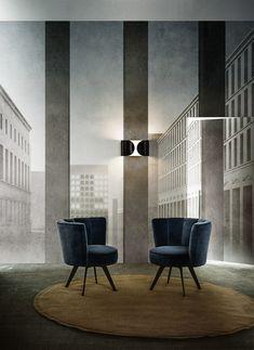 Trompe l'oeil wallpaper NOVECENTO by Wall&decò