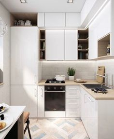 Do you want a little cooking area layout suggestions? The trouble, exactly how can we make a wonderful kitchen as well as comfortable in the house. As well as right here we give 46 motivation layout suggestions little kitchen area for your residence. Kitchen Room Design, Kitchen Dinning, Modern Kitchen Design, Home Decor Kitchen, Interior Design Kitchen, Home Kitchens, Small Kitchen Cabinets, Kitchen Layout, Interior Paint