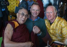 Sting and the Dalai Lama at the launch of friend Bobby Sager's new book 26 ottobre 2012