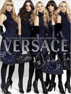 Angela Lindvall, Carolyn Murphy, Kate Moss, Christy Turlington and Daria Werbowy for Versace by Mario Testino (2006)