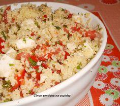 Cinco sentidos na cozinha: Salada fria de couscous com tomate, queijo fresco ...