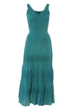 I've been looking for a gypsy dress suitable for curves - could this be it??   Shirred Panel Summer Dress - at Roman Originals