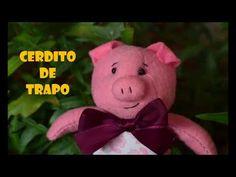 Cerdito de trapo - YouTube Teddy Bear, Toys, Youtube, Animals, Pork, Trapillo, Plushies, Felting, Funny