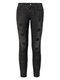 Polka-dot print mid-rise skinny jeans | Stella McCartney | MATCHESFASHION.COM US