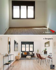 Decoración de Interiores Vs Home Staging – ordenar organizar decorar Home Staging, Home Designer, Home Room Design, House Rooms, Small Apartments, Interiores Design, Living Room, Bedroom, House Styles