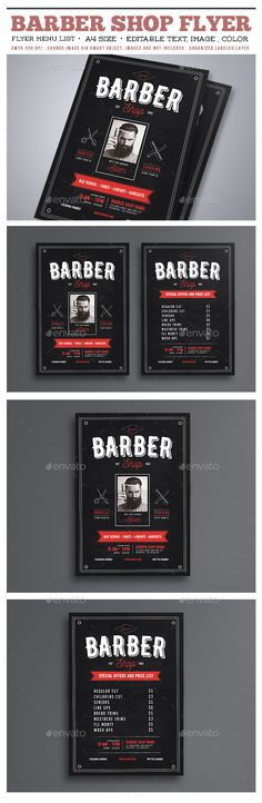 Barber Shop Flyer - Commerce Flyers                                                                                                                                                      More