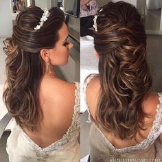 ideas for bridal hairstyles for long hair with tiara beautiful Mom Hairstyles, Wedding Hairstyles, Soft Bridal Makeup, Peinado Updo, Hair Dos, Prom Hair, New Hair, Marie, Hair Makeup