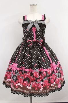 BABY,THE STARS SHINE BRIGHT / いちごみるくなStrawberry Days リボンジャンパースカート - closet child オンラインショップ