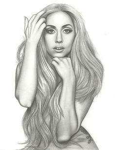 A drawing by Skye- Lady Gaga (2)  www.facebook.com/mysmallbranddesigns