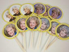 Golden Girls cupcake toppers Golden girls cupcake picks