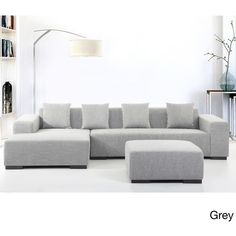 A great modern design sectional sofa with comfortable upholstery fabric.  Ample seating and a sleek design that will inspire your home.  The Lungo comes with l…