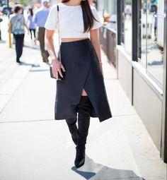 Thigh High Boots l Monochromatic l Fashion & Frills Blogger