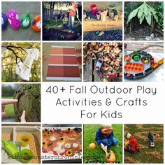 Autumn is the perfect time to get outside and play with your family. Check out our collection of over 40 fall outdoor play activities for kids for all the inspiration you need. From Kitchen Counter Chronicles Outside Activities For Kids, Autumn Activities, Preschool Activities, Preschool Art Projects, Craft Projects For Kids, Kids Crafts, Autumn Crafts, Outdoor Play, Creative Kids
