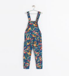 Image 1 of FLORAL PRINT DUNGAREES from Zara